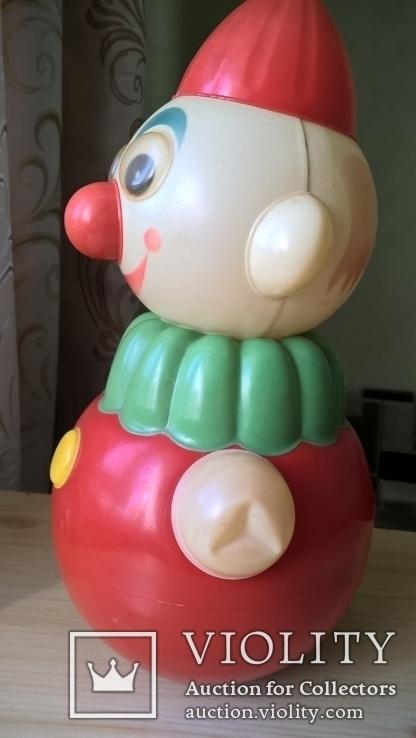 Неваляшка Клоун Детская игрушка Целлулоид СССР, фото №8