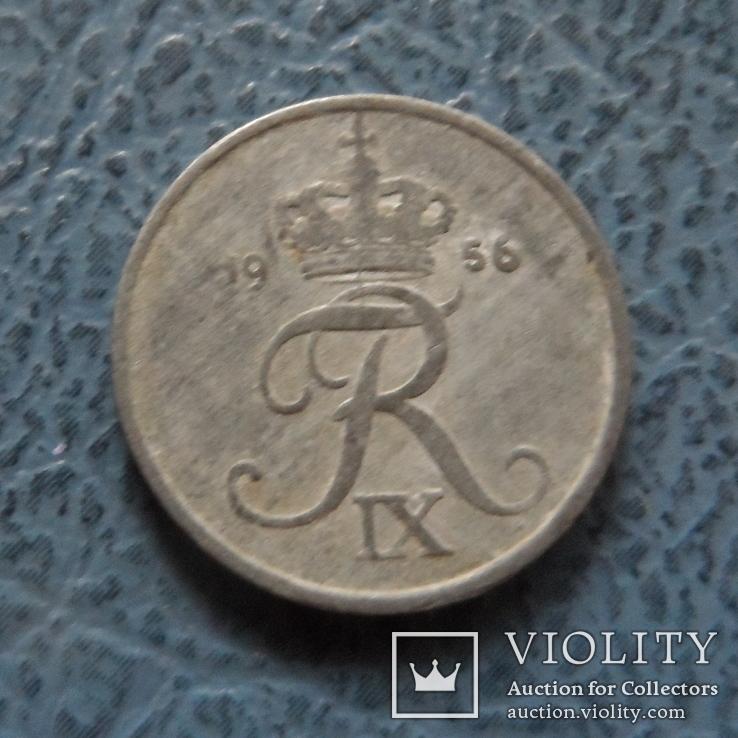 1  эре  1956  Дания  цинк   ($2.1.16)~, фото №2