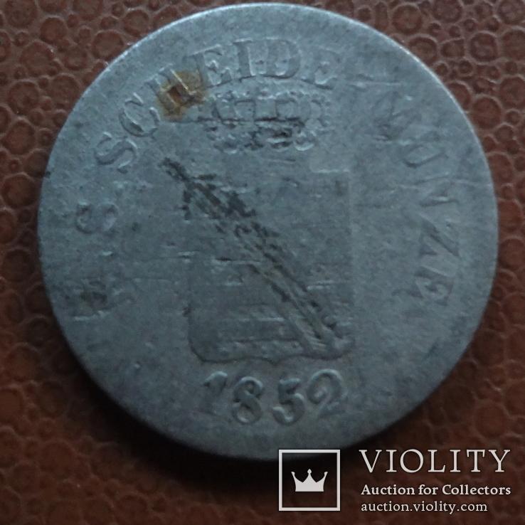 1 ньюгрошен 10 пфеннигов 1852 Саксен-Альбертин серебро (М.1.21), фото №3