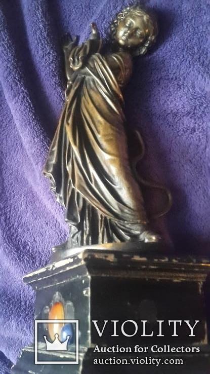 Старинная бронзовая фигура с подписью автора Фальконне, фото №10