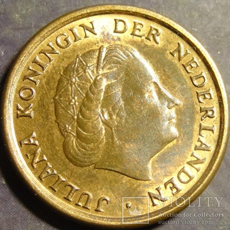 1 цент 1978 Нідерланди, фото №3