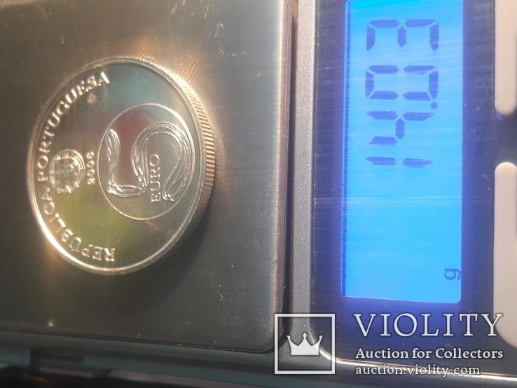 Португалия 5 евро, 2006 ЮНЕСКО - Монастырь Алкобаса СЕРЕБРО, фото №5