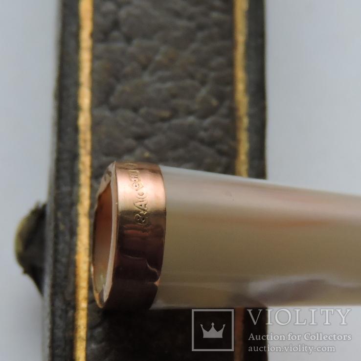 Мундштук  с золотым ободком в родной коробке, фото №5