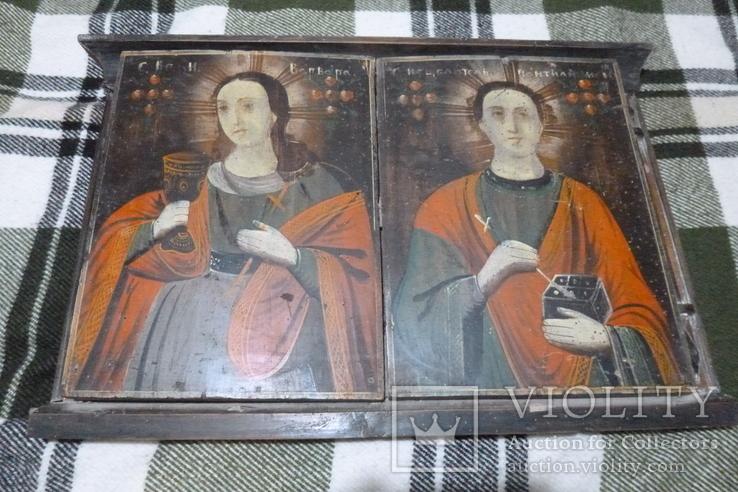 Икона Св. Варвара и Св. Пантелеймон