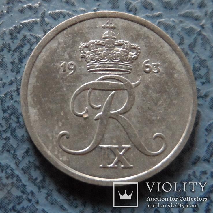 1  эре  1963  Дания  цинк   ($2.1.21)~, фото №2