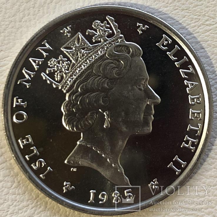 1 нобль 1985 год остров Мэн платина 31,1 грамм 999,5', фото №3