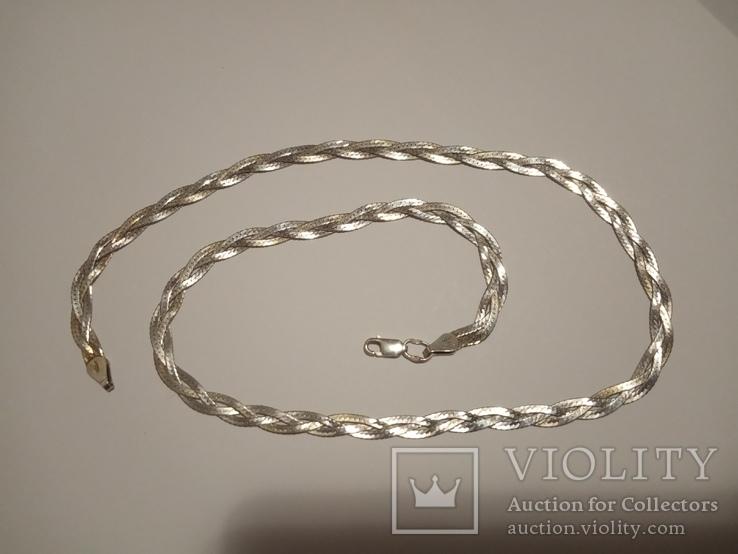Серебряная женская цепочка, фото №2