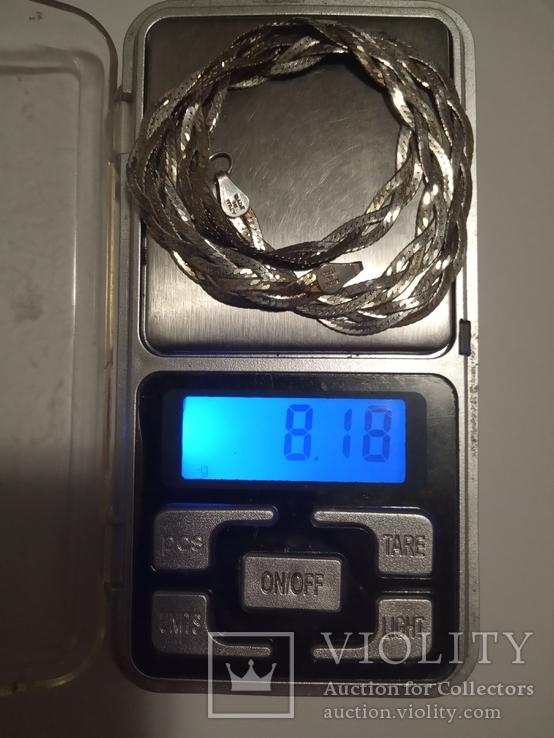 Серебряная женская цепочка, фото №3