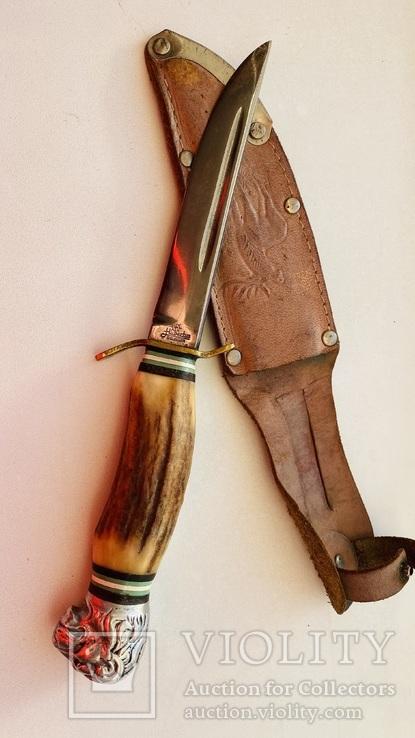 Нож голова Льва рог Solingen Hubertus
