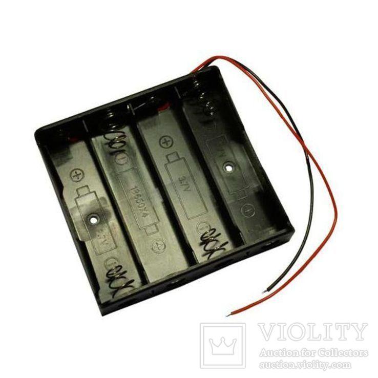 Батарейный отсек HOLDER 4 x 18650 с проводами на 4 аккумулятора 18650