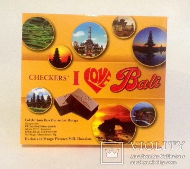Коробка от конфет с Бали. С дурианом. С конфетой., фото №2