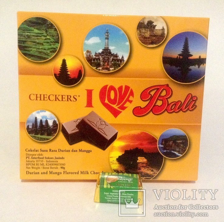 Коробка от конфет с Бали. С дурианом. С конфетой., фото №3