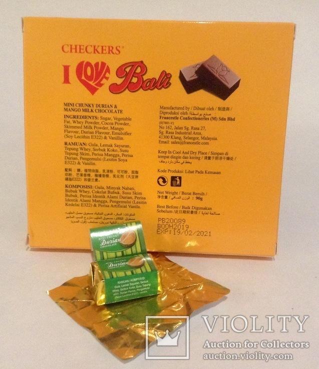 Коробка от конфет с Бали. С дурианом. С конфетой., фото №5