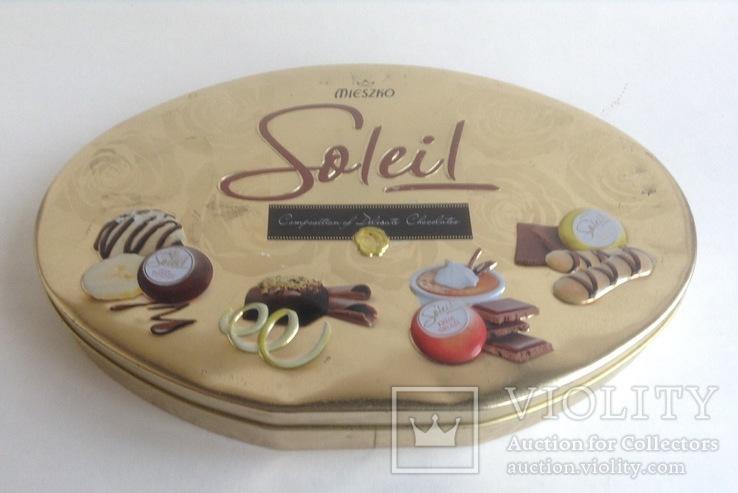 Коробка от конфет Solei. Металл., фото №2