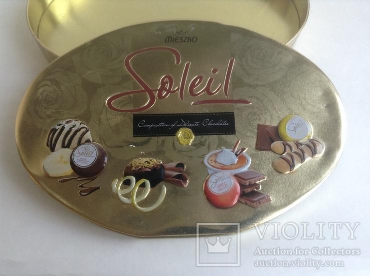 Коробка от конфет Solei. Металл., фото №6