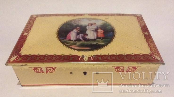 Коробка с замочком. Конфеты Ренессанс.  Металл, жесть., фото №3
