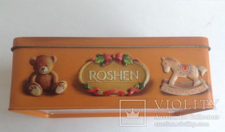 Коробка от конфет У ёлки. Металл, жесть., фото №4