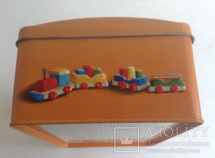 Коробка от конфет У ёлки. Металл, жесть., фото №5