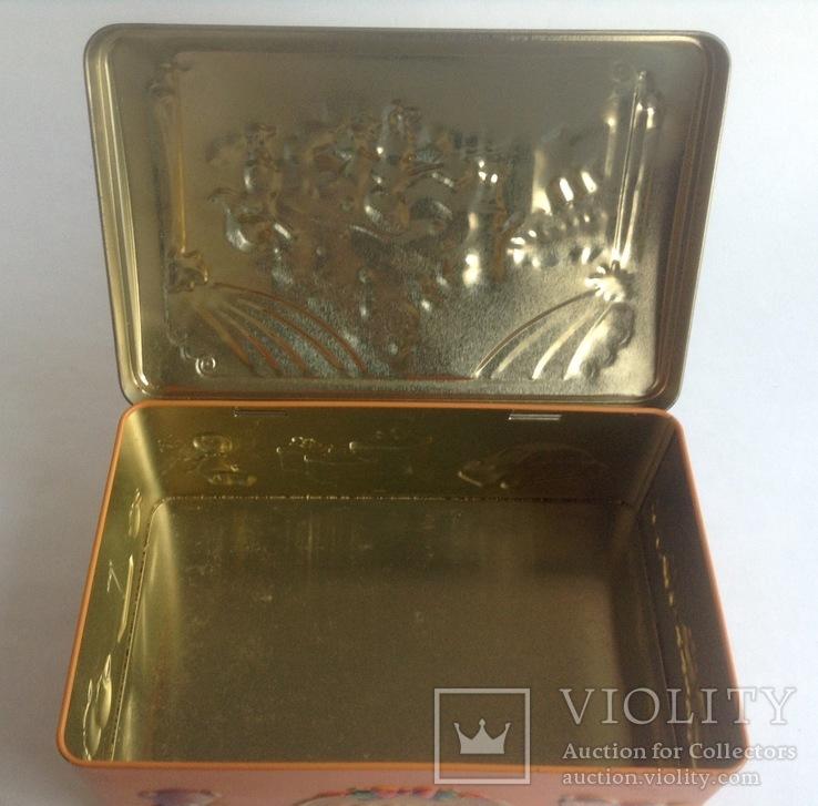Коробка от конфет У ёлки. Металл, жесть., фото №8