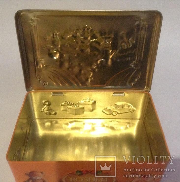 Коробка от конфет У ёлки. Металл, жесть., фото №13