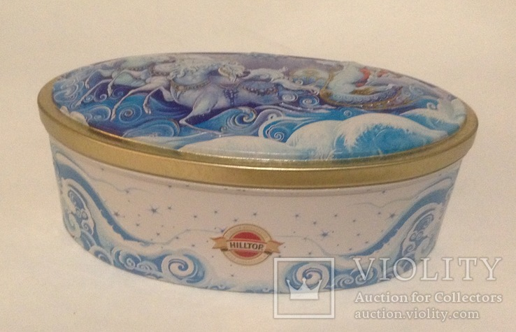 Коробка от конфет Снежная Королева. Металл, жесть., фото №7