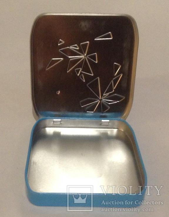 Коробка для мелких предметов. Карманная. Металл, жесть., фото №4