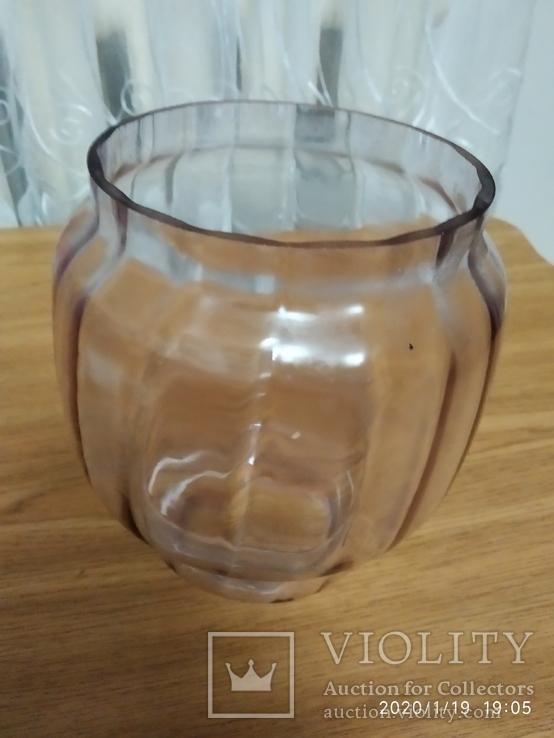 Фигурное стекло к керосиновой лампе с оттенком, фото №6
