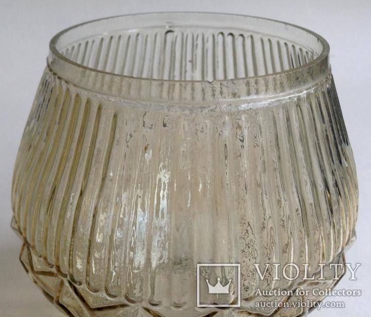 Плафон Тюльпан. Для светильников и бра.  Литое стекло., фото №4