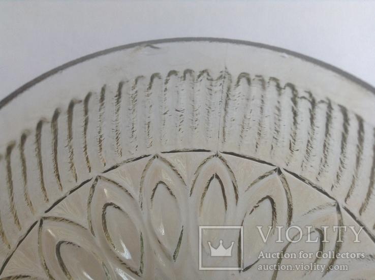 Плафон Тюльпан. Для светильников и бра.  Литое стекло., фото №12