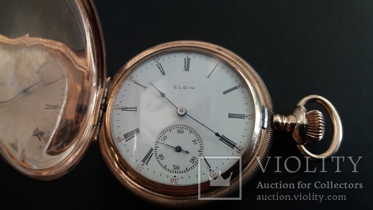 Годинник Elgin (золото 14к), фото №7