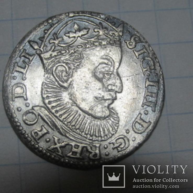 Трояк Сигизмунда 3 Ваза 1589 год.