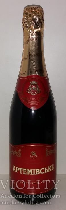 Шампанское Артемовское красное полусладкое 2005г., фото №2