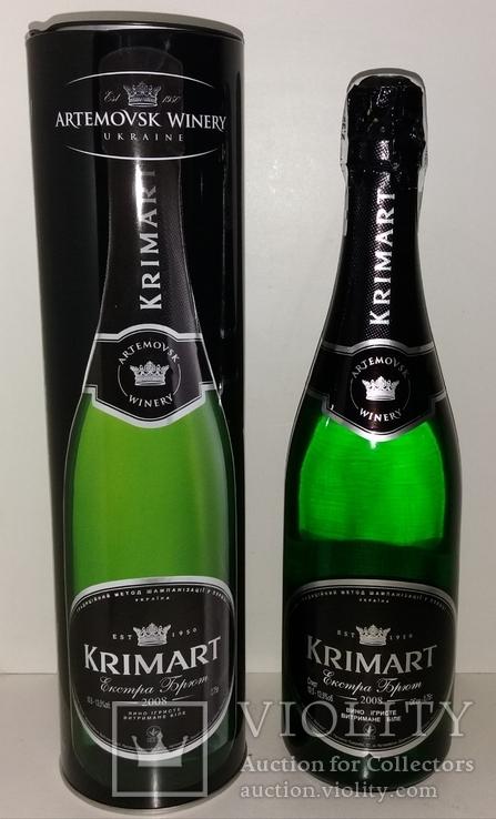 Шампанское KRIMART белое экстра брют 2008г., фото №2