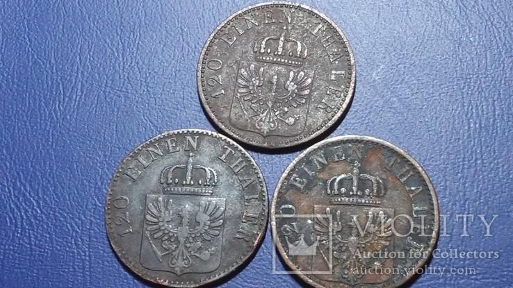 3 по 3 пфеннига 1862-1868 Пуссия, фото №5
