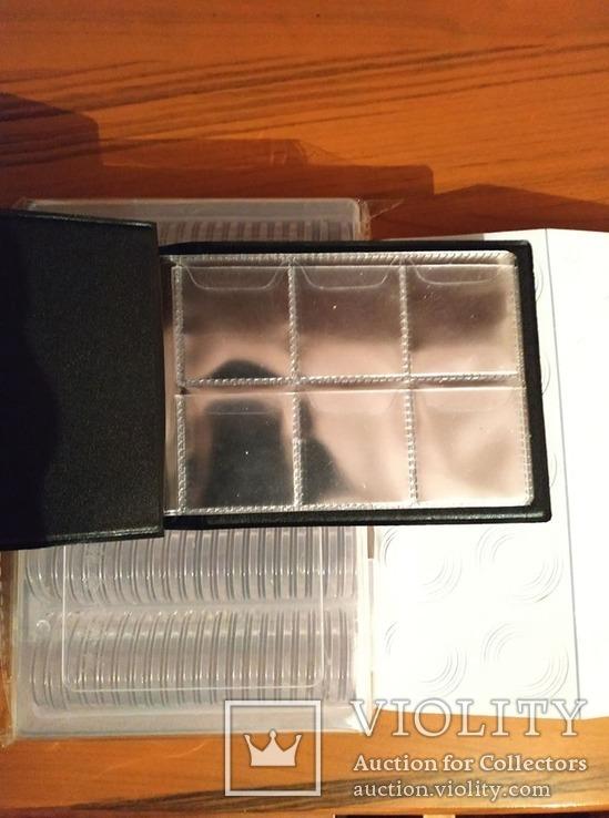 Капсули запаковані 100шт +прокладки +альбом на 60 монет, фото №6