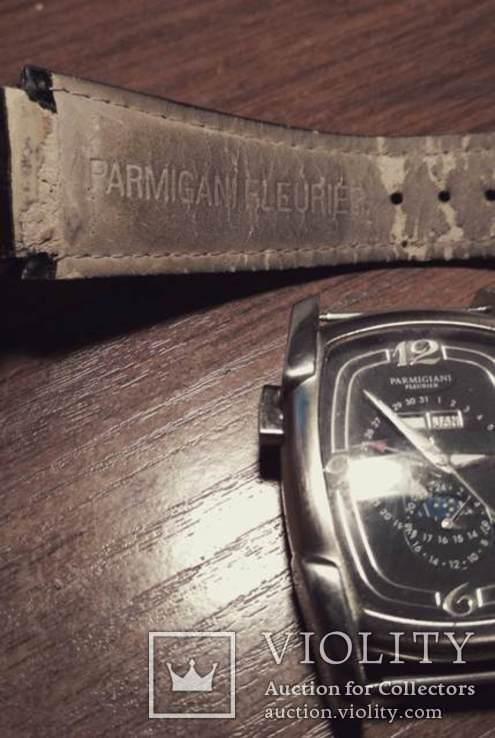Часы  копия Рarmigiani Fleurier po13, Швейцария с кожаным ремешком, фото №7