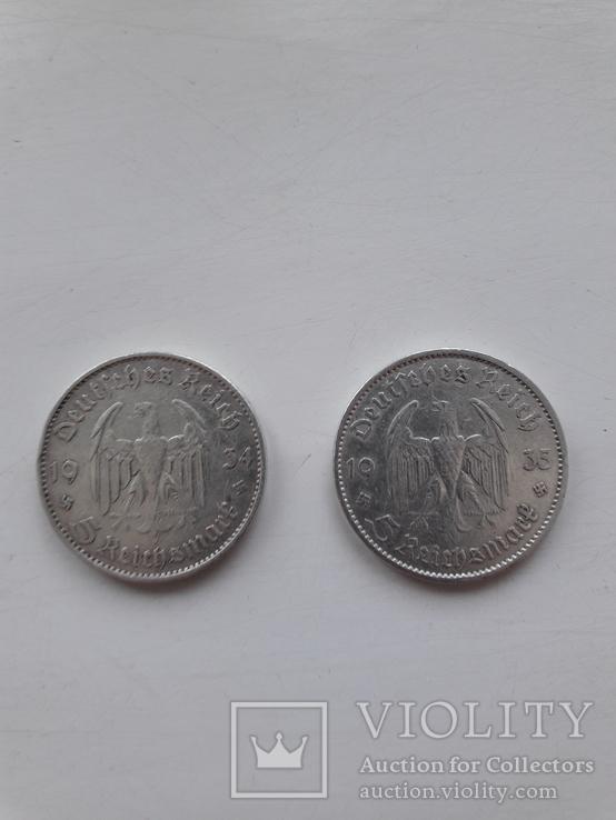 5 марок 1934 E, 1935 A, фото №3
