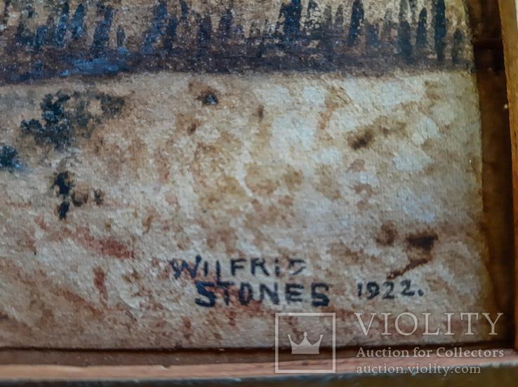 Две старые Английские картины 1922 год. Художник Wilfrid Stones. Смешанная техника., фото №8