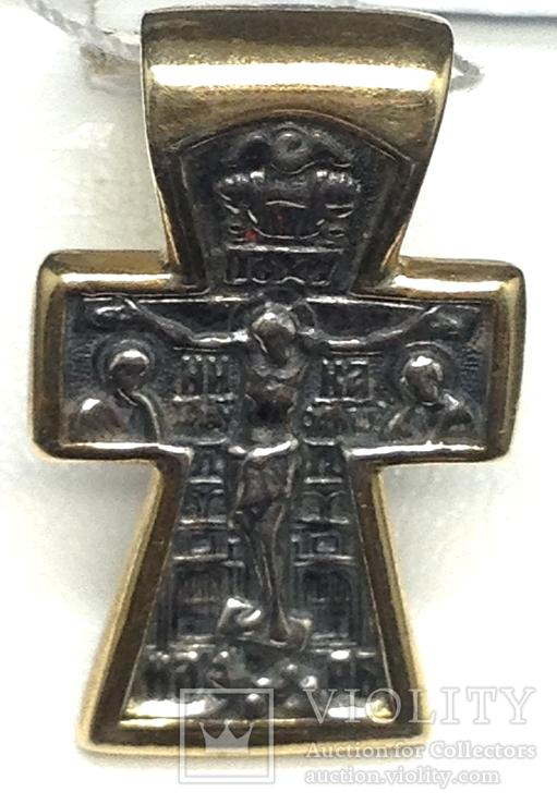 Крестик, позолота, фото №6