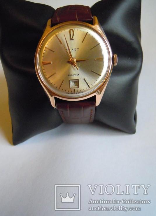 Золотые часы Полет 583, фото №11