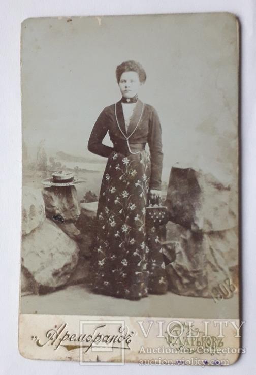 Дама в наряде (6.5*10.5), фото №2