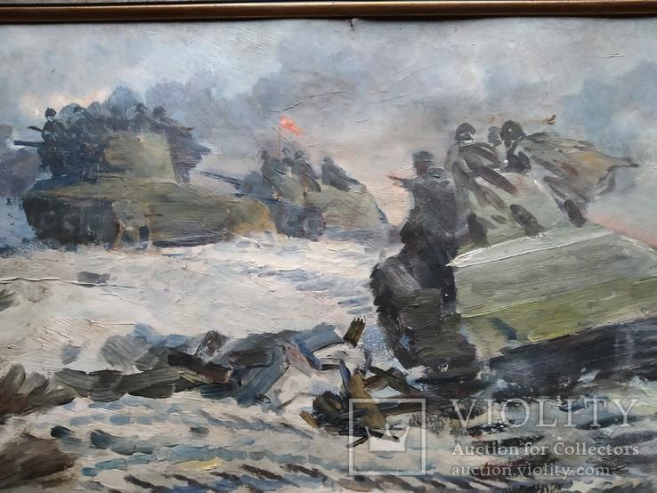 """За Родину"" к.м.    А.Б.Постель (1904-1989), фото №4"