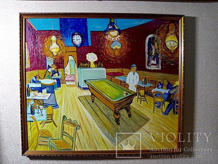 Копия картины холст масло Винсент Ван Гог Ночное кафе.70*60см, фото №2