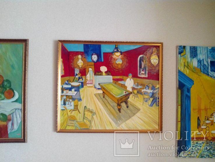 Копия картины холст масло Винсент Ван Гог Ночное кафе.70*60см, фото №4