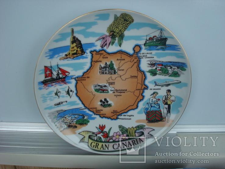 Тарелка сувенирная Гран Канария Испания (Gran Canaria), фото №2