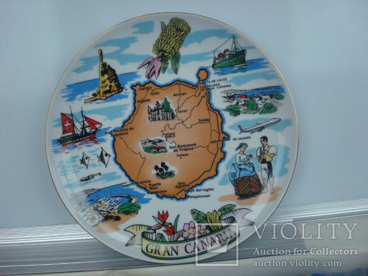 Тарелка сувенирная Гран Канария Испания (Gran Canaria), фото №3