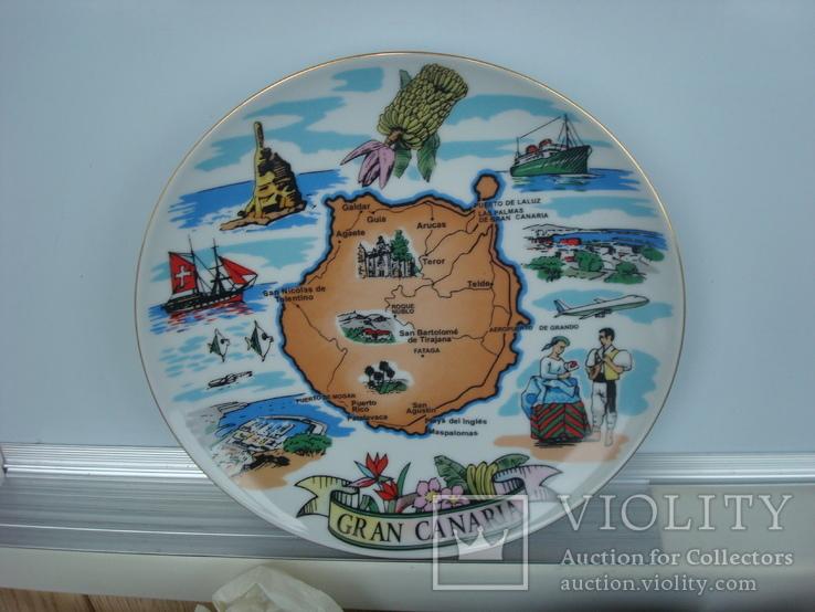 Тарелка сувенирная Гран Канария Испания (Gran Canaria), фото №6