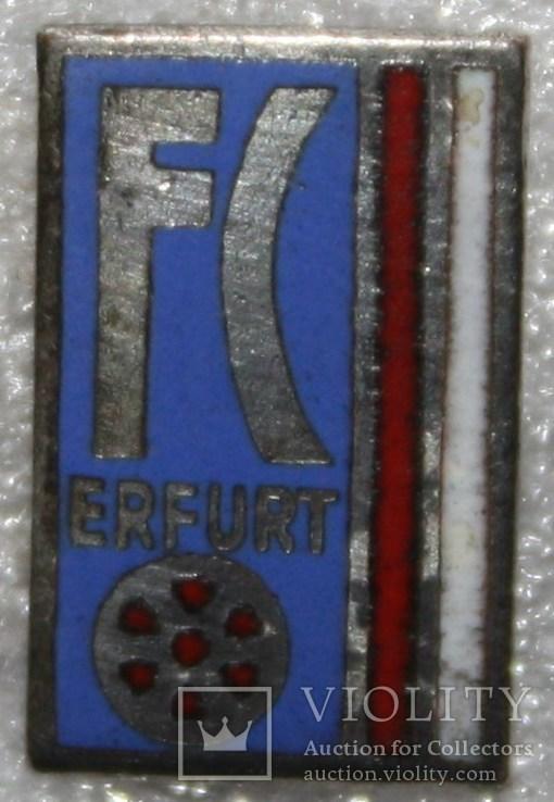 """30.Знак-фрачник футбольного клуба """"'Эрфурт""""(Германия), фото №3"""
