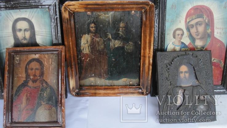 5 старинных икон одним лотом: Святой Троицы, Богородицы, Вседержитель - 3шт., фото №2
