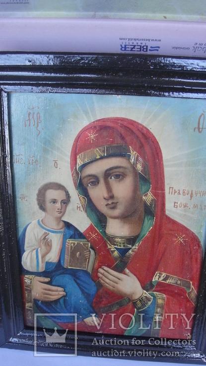 5 старинных икон одним лотом: Святой Троицы, Богородицы, Вседержитель - 3шт., фото №3